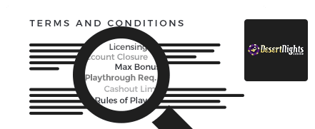 Desert Nights Casino top 10 terms and conditions