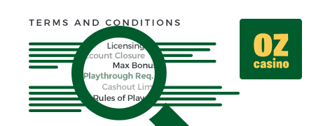 Oz Casino top 10 terms and conditions