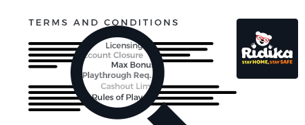Ridika Casino top 10 terms and conditions