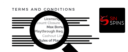 Sin Spins Casino top 10 terms and conditions