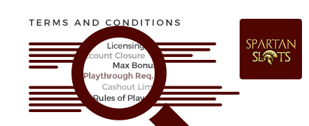 spartan slots casino top 10 terms and conditions