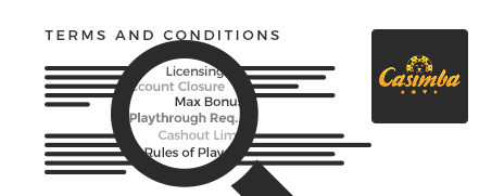 casimba casino top 10 terms and conditions