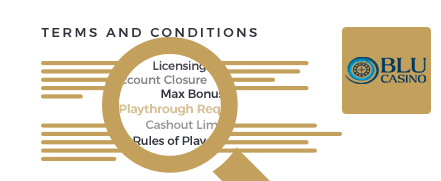 Casino Blu terms and conditions