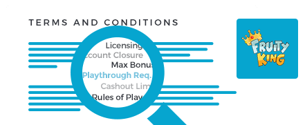 fruity king casino top 10 terms and conditions
