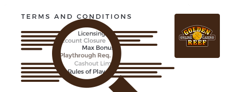 goldenreef casino top 10 terms and conditions