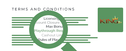 Kingbit Casino terms and conditions