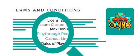 Nostalgia Casino terms and conditions