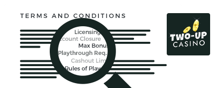 two up casino top 10 terms and conditions
