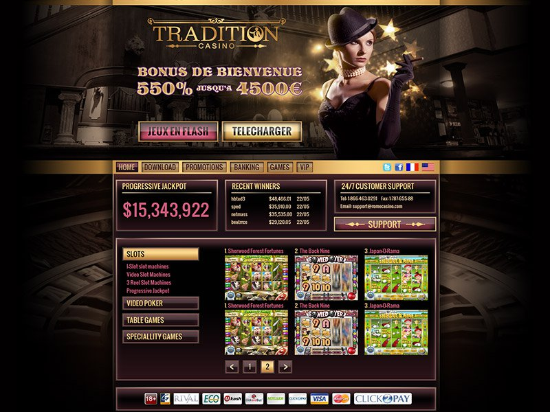 Tradition Casino No Deposit Bonus